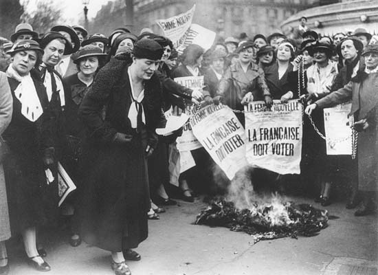 1935 French suffragettes